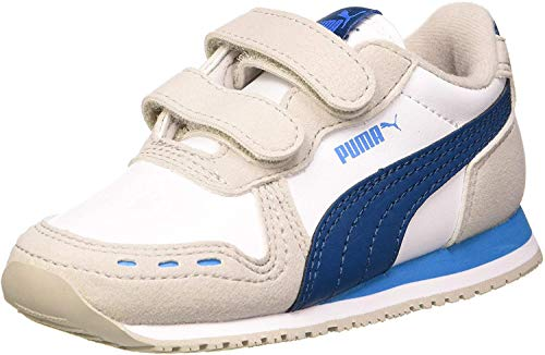 PUMA Unisex Baby Cabana Racer Sl V Inf Sneaker, Mehrfarbig (Puma Black-Puma White-Dragon Fire), 19 EU