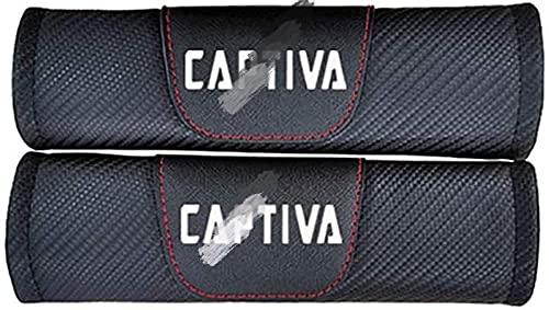 2 fundas de cinturón de seguridad de fibra de carbono paraTodos los modelos Chevrolet Captiva, protectores de hombros y cuello, accesorios seguros y cómodos