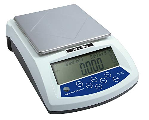 witeg Laboratorio Báscula WBA placa de cuna de 6200de 0,01a 6200g, 168x 168, contador de modo y cuna, varios Peso (g, ct, GN, DWT, etc.)