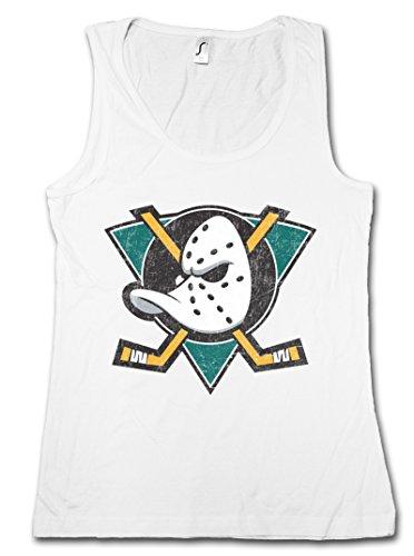 Urban Backwoods Ducks Hockey Mujer Camiseta Sin Mangas Women Tank Top Blanco Talla L