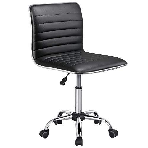 Yaheetech Bürostuhl Drehstuhl Chefsessel Kunstleder Schreibtischstuhl Ergonomischer Bürodrehstuhl höhenverstellbar Schwarz