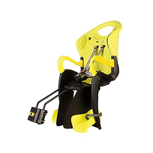 Tiger - Asiento Posterior de Bicicleta - para niños de hasta 22 kg, de 3 a 8 años - Se Fija al Cuadro -Amarillo Alta Visibilidad