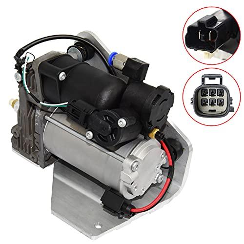NMN Precision Air Suspension Compressor Pump & Relay LR015303 LR045251 LR023964 for La-nd Rover 2006-2013 Range Rover Sport, 2005-2009 LR3, 2010-2014 LR4, with AMK Style (4 pins connector)