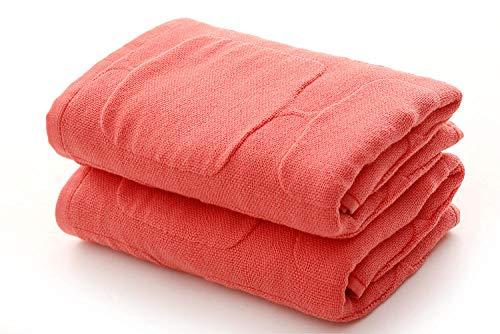 XINDUO Alta absorción Toallas Grandes súper Suaves,Toalla de Gasa Suave de algodón 3pcs-Orange_33 * 73,Lujo de algodón Puro Toalla