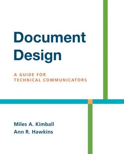 Document Design: A Guide for Technical Communicators