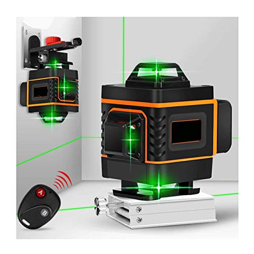 JIALILI 4D Green Beam Level, Self-leveling level Horizontal Vertical Cross Line With 360 ° swivel base, Suitable For General technical installation, 16 lines