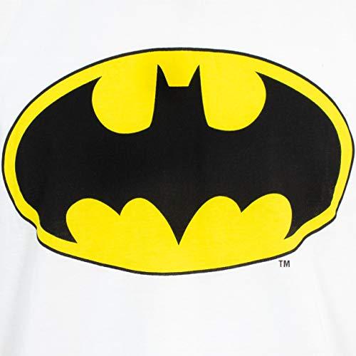 Batman Pijamas para Hombre DC Comics Blanco XX-Large