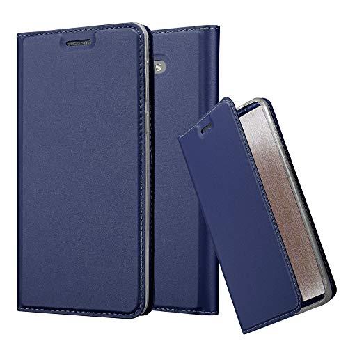 Cadorabo Custodia Libro per Honor 6X in Classy Blu Scuro – con Vani di Carte, Funzione Stand e Chiusura Magnetica – Portafoglio Cover Case Wallet Book Etui Protezione