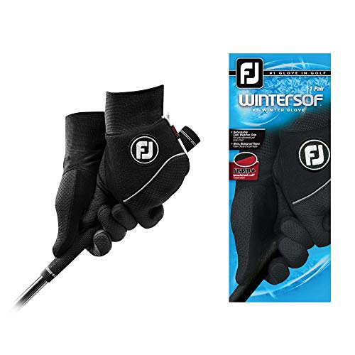 FootJoy Men's WinterSof Pair Golf Glove Black Medium/Large, Pair