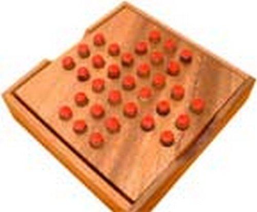 Solitario de madera formato viaje 11 x 11 x 3 cm