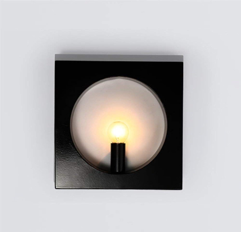 Neue Mode Schlafzimmer Nachttischlampe gang Flur Licht kreative retro Bügeleisen hotel Wandleuchte (Farbe  Schwarz)