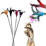 Westeng Lot de 4 plumeaux avec clochettes pour chat Couleur aléatoire #2