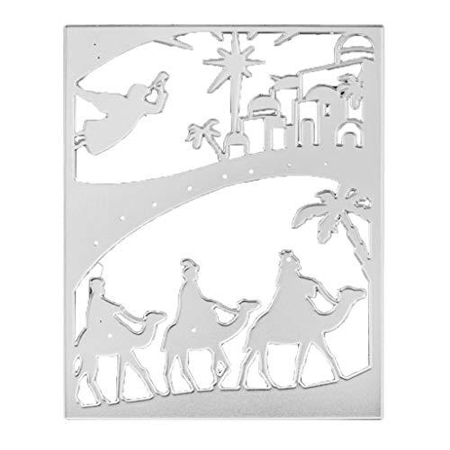 Kcibyvx Stanzschablone Jesus Kamel,Prägeschablonen Stanzformen Schablonen Für Scrapbooking, Fotopapier, Karten, Handwerk Prägen DIY Herstellung Geburtstag Geschenk Neujahrsgeschenk