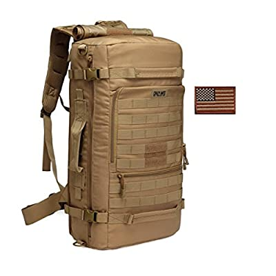 Crazy Ants Military Tactical Backpack Hiking Camping Daypack Shoulder Bag Upgraded Version,Coyote 35L