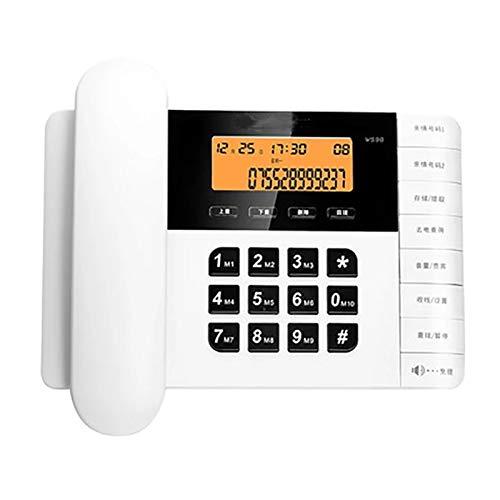 Telefono Fijo para la Decoración del Hotel en Casa CORDADO □□□□□□□□ Con Teléfono de altavoz Teléfono Identificación de llamadas de llamadas de línea fija Ajustable Volumen y LCD Reloj de brillo para e