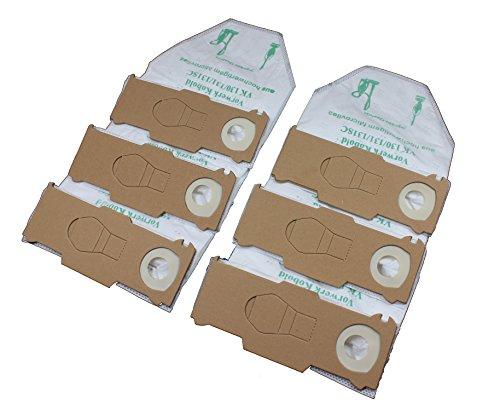 6 Staubsaugerbeutel Premium Vlies geeignet für Vorwerk Kobold 130, 131 und 131sc