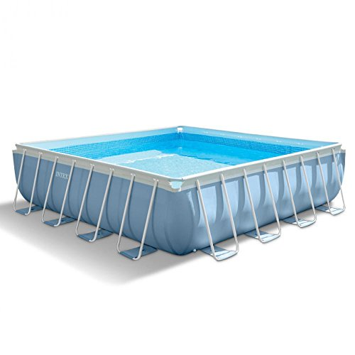 Intex 28764 PRISM Frame Pool Komplett-Set mit GS-Pumpe, 427x427x107cm