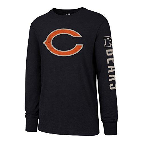 OTS NFL Chicago Bears Men's Slub Long Sleeve Team Name Tee, Distressed Sinclair, X-Large