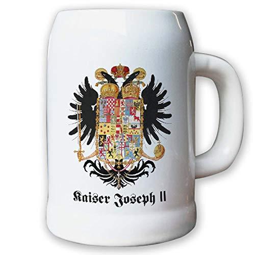Caraffa/boccale di birra 0,5L–Imperatore Giuseppe II kaisertum Impero Sacro Romano Impero Aquila Land Stemma stemma distintivo # 9468