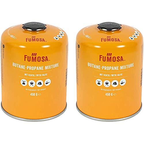 FUMOSA Gaskartuschen Set für Weber Q100/1000-Serien, Performer & Go Anywhere, Ventilkartusche je 450g Anzahl 2 Kartuschen