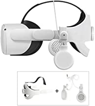 Balance Weight Headband Strap Comfortable Adjustable Head Strap Helmet Belt for Oculus Quest 2 Elite Strap VR Headset with On-Ear Headphone Earbuds