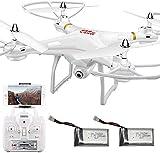 ZHLFDC UAV adulte RC Quadcopter avec caméra Wifi avion en temps réel vidéo Hauteur Planant 4D VR 2,4 GHz 4 axes Gyroscope Headless mode à distance RTF-Appuyez sur Ctrl Maintenez une touche for command