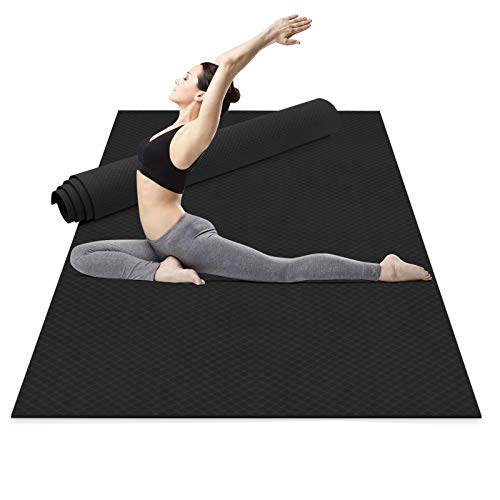 Odoland Esterilla de Yoga Grande 183 x 121 x 0.6 cm con Correa de Transporte, Gruesa...