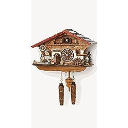 Musical Black Forest Quartz Chalet Cuckoo Clock with Waitress by Trenkle Uhren