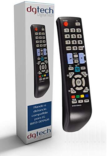 DigitalTech® - Mando de sustitución para televisores compatible Samsung BN59-00942A