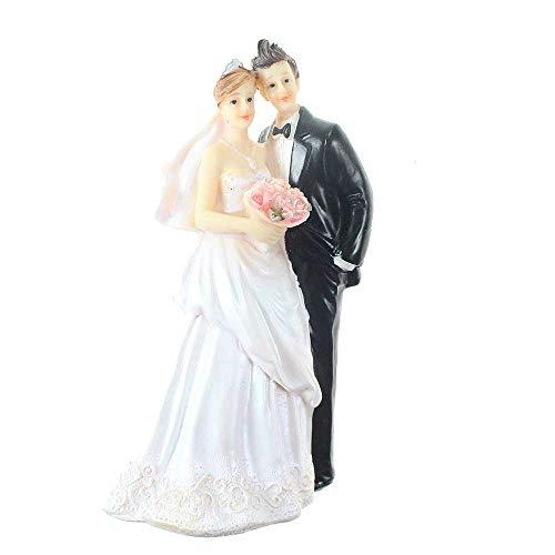 Floral-Direkt Brautpaar schwarz weiß ca.12x7x4,5cm Polyresin Hochzeitspaar Hochzeit Torte Figur