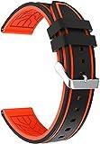 Arkgo Repuesto de Correa de Reloj de Silicona compatible con Amazfit Pace/Stratos/GTR 47mm, Caucho Fácil de Abrochar para Relojes y Smartwatch (22mm, pattern 0)