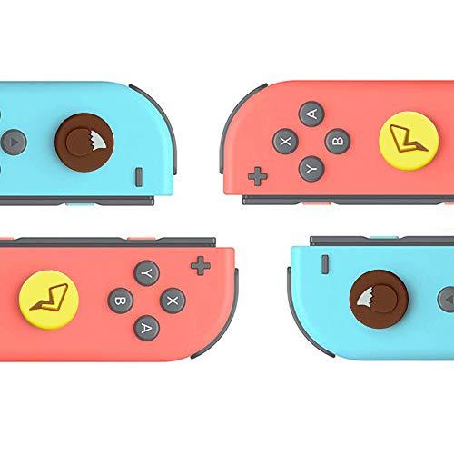 TopACE 任天堂 Switch NS Joy-con対応 L/Rセンサーコントロール(ピカチュウ) キャップ ジョイコンコントロール スティックキャップ 右/左センサーアナログ ジョイスティック カバー ニンテンドースイッチ対応 ロッカーキャップ 親指