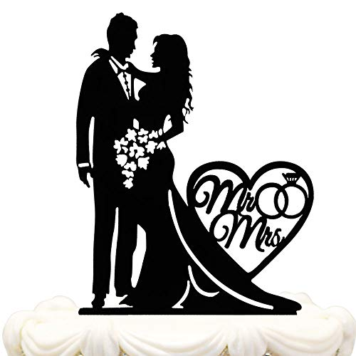 Mr and Mrs Cake Topper Acrylic Love Wedding Cake Topper Funny Bride and Groom Cake Topper