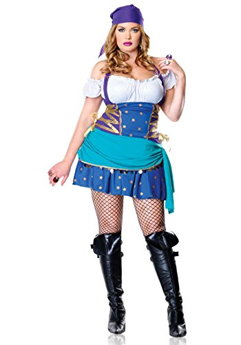 Leg Avenue 83486X - Zigeunin prinses kostuum, oversized 44, lila/blauw