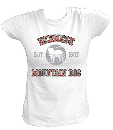 Artdiktat Damen T-Shirt - Berner Sennenhund - OLD SCHOOL Est. 1907 Größe XXL, weiß
