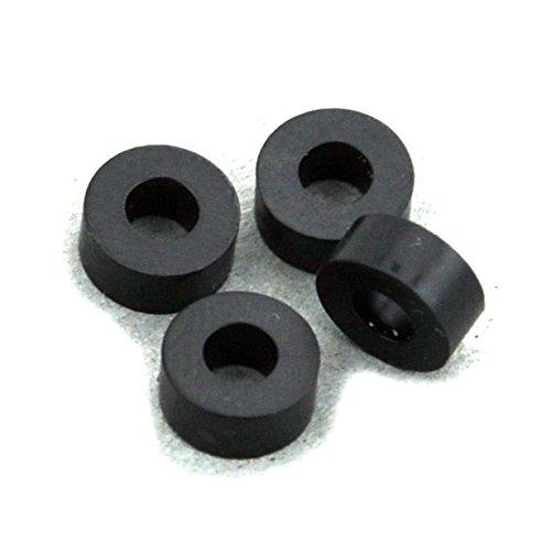 100PCS 3mm Black Nylon Round Spacer, OD 7mm, ID 3.2mm, Not Threaded, for M3 Screws, Plastic.