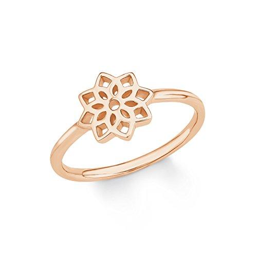 s.Oliver Jewel Damen Ring So Pure Blume 925 Silber rosévergoldet
