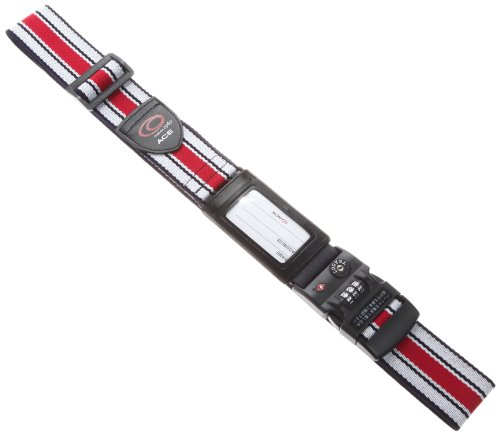 [タビトモ] スーツケースベルト TSAロック付 195cm 品番32567 195 cm 0.2kg マルチストライプ(レッド)