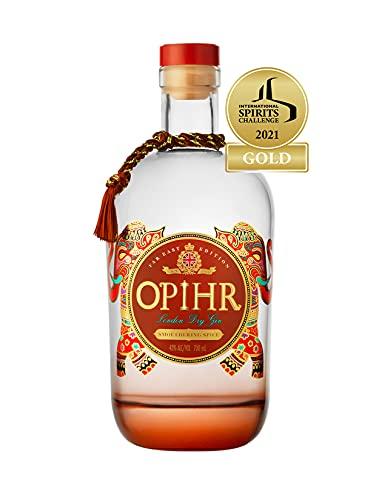 Opihr Far East Edition (1 of 3) London Dry Gin - süße, blumige Elemente des Szechuanpfeffers - intensiver und sehr würziger Premium Gin, inspiriert von der antiken Gewürzstraße Gin, (1 x 0.7l)