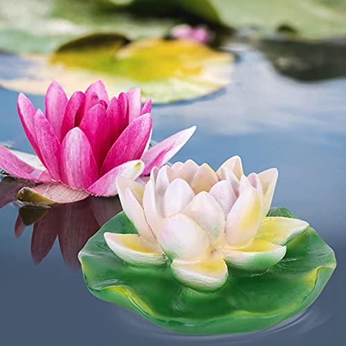 Okuyonic Décor Lotus étanche pour Fontaine extérieure(Small and Medium White Lotus)