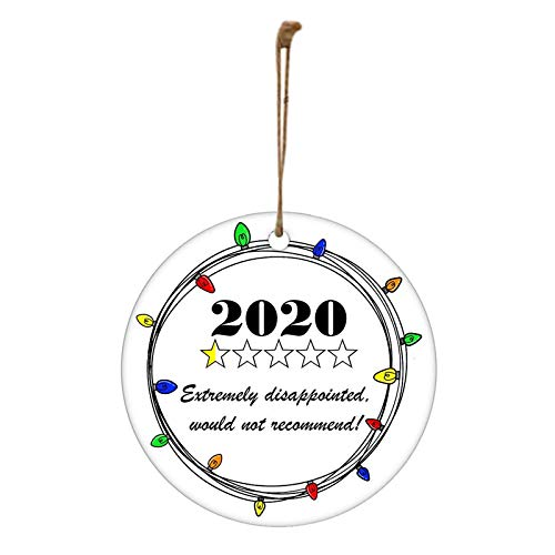 Mingbai Christmas Ornament 1 Star Would Not Recommend Home Decoration Gift,Remembering 2020 Year of Quarantine Check List, Funny Xmas Decorations,Creative Gift for Home Decor–A Year to Remember (A)