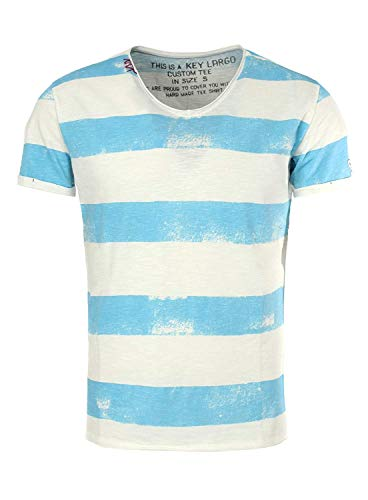KEY LARGO Camiseta de cuello en V para hombre Airflight azul claro XXXL