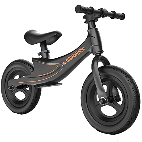 YMDA Balance Bike, 12-Inch Toddler Bike with Padded Seat and Rubber Handle, Aluminum Alloy Frame Bearing, Lightweight and Wear-Resistant