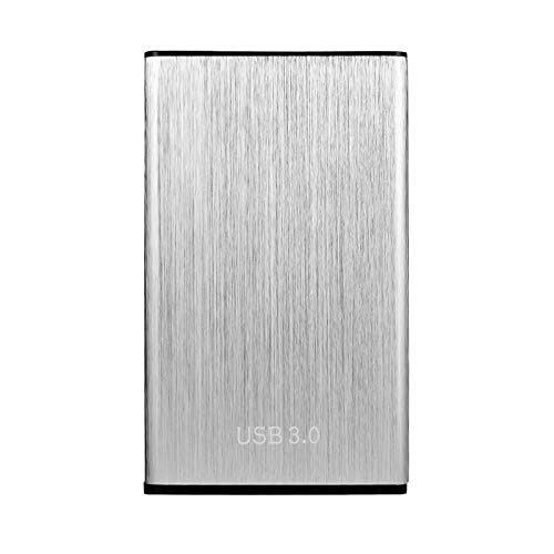 ZJM External Hard Drive, Expansion Portable External Hard Drive HDD, USB 3.0 Ultra Thin External HDD Compatible for PC/Desktop/Laptop/TV/Mac,Silver,1TB