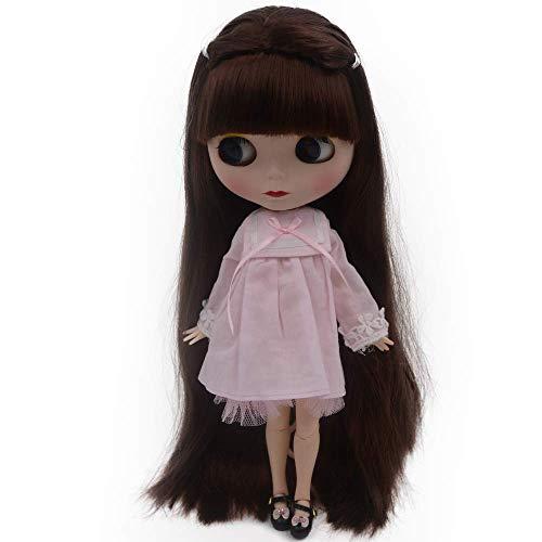 CUTEBEE 1/6 BJD Puppe ist der Neo Blythe ähnlich,4-farbige wechselnde Augen Mattes Gesicht und Puppen mit Kugelgelenken am Körper,12 Zoll bei denen Make-up und Kleid selbst gemacht Werden können