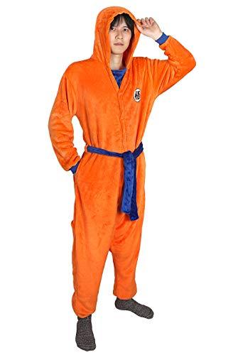 CoolChange Kigurumi de Son Goku   Pijama Naranja con símbolo Go   Talla: M