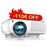 Proyector, TOPTRO 6500 Lúmenes Proyector Cine en Casa Full HD 1080P Nativo 1920x1080 Proyectores HD Soporta Video 4K, Corrección Trapezoidal 4D, Fonction Zoom X/Y Proyector LCD para Presentación PPT
