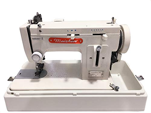MZ-518 Portable Walking-Foot/Zigzag Sewing Machine with Carrying Case - for Sewing and Repairing Thick Materials