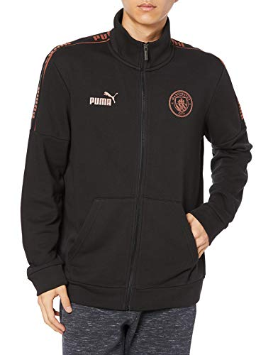 PUMA MCFC Ftblculture Track Jacket Chaqueta De Entrenamiento, Hombre, Black/Copper, M