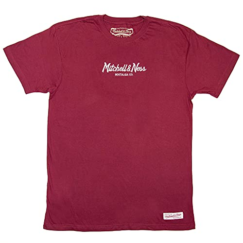 Mitchell & Ness Pinscript tee, Red, 2X-Large